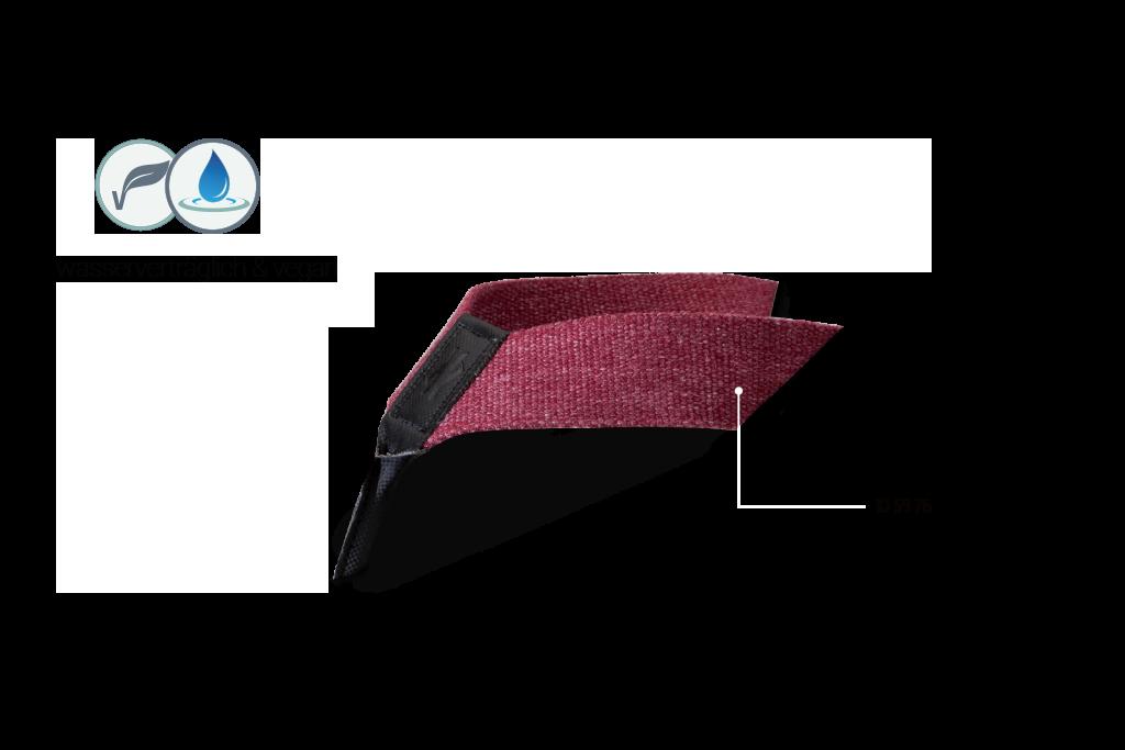 Textil, Aqua Bordeaux, 10 59 76